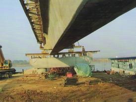 大桥施工现场图